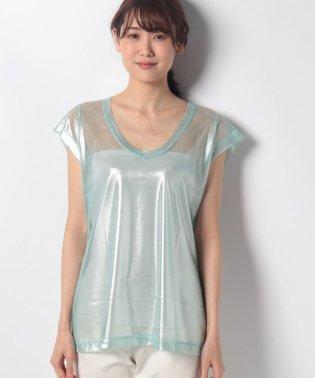 ラメレーシーフレンチTシャツ・カットソー