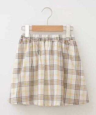 [140-150]チェックギャザースカート