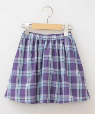 [160]チェックギャザースカート[WEB限定サイズ]