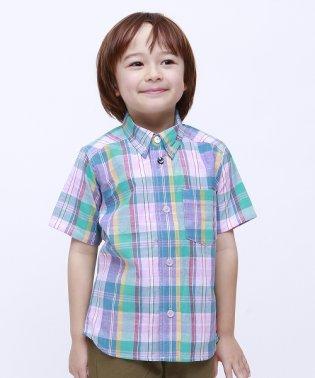 【セットアップ対応商品】マドラスチェック半袖シャツ
