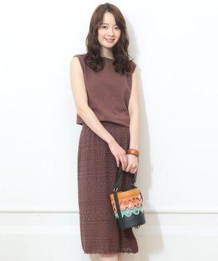 【MAGASEEK/d fashion限定カラー】かぎ編みスカートSET UP