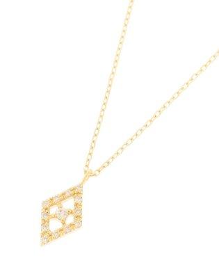 K18ダイヤモンド ひし形取り巻き ネックレス