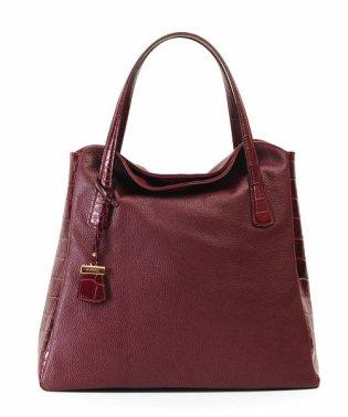[RIPANI] ハンドバッグ 牛革 クロコ型押し レザーバッグ 手提げバッグ イタリア製ハンドバック