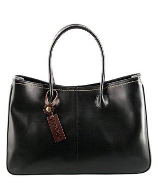 [HALEINE] 牛革 日本製 ハンドバッグ フラワーチャーム付き / レディース