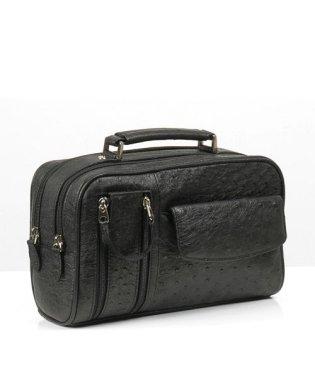 ビジネスバッグ メンズ オーストリッチ Wファスナーアウトポケット携帯入れ付