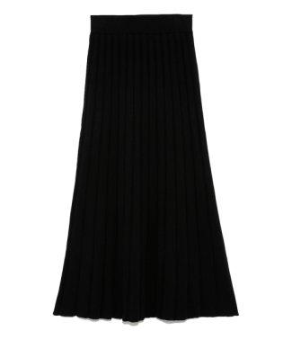 フリルミドルニットスカート