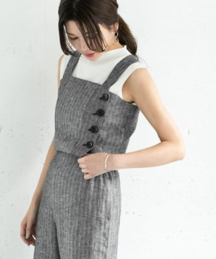 【セットアップ対応商品】ミックスヘリンボーンビスチェ