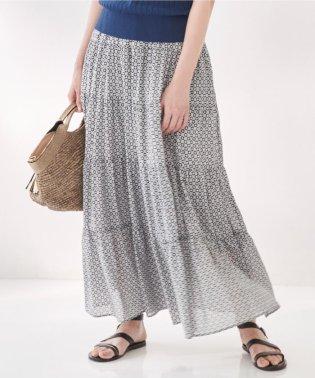 【洗える】TILE PRINT LAWN スカート