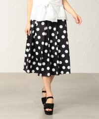 【はっ水】【ウォッシャブル】ポルカドットプリントスカート