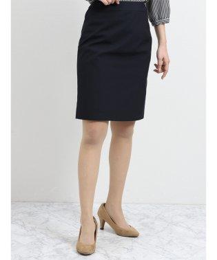 ナチュラルストレッチ セットアップスカート 紺