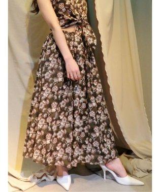【セットアップ対応商品】オリジナルフラワーボリュームスカート