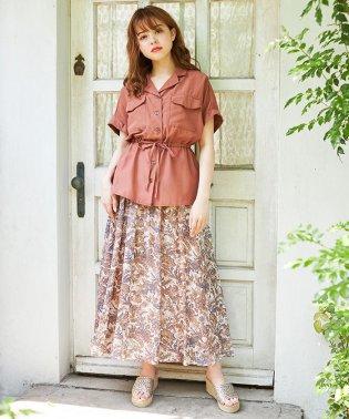 ペイズリー柄ギャザースカート