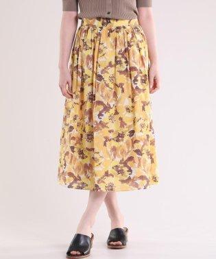 水彩柄フレアスカート
