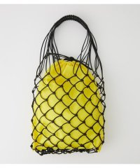 LEATHER LIKE MESH TOTE BAG