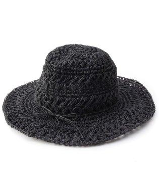 ライン柄編みハット