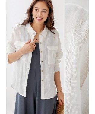 【LUXE】リネン羽織りシャツ