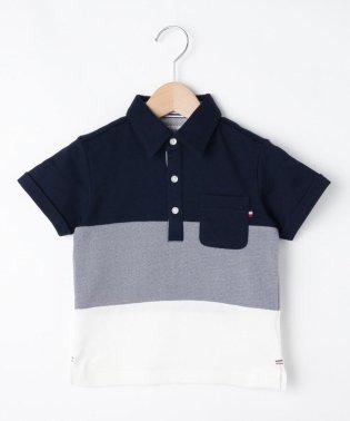 【100cm~150cm】【パパおそろい】【抗菌・防臭】パネル切替ポロシャツ