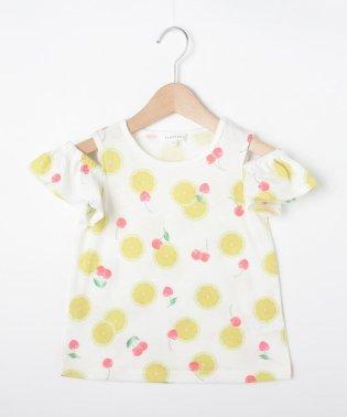 【110cm~160cm】総柄フルーツTシャツ