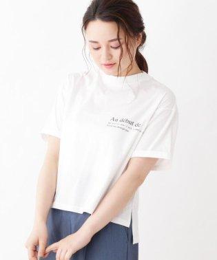 innowave プリントロゴ入りコットンTシャツ