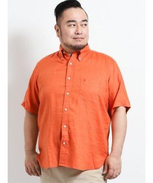 【大きいサイズ】ポロ/POLO フレンチリネン半袖ボタンダウンシャツ