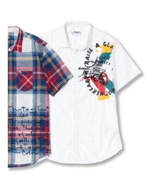 【大きいサイズ】デシグアル/Desigual CAM BERWIN 片胸プリント半袖シャツ
