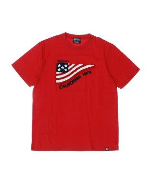 【大きいサイズ】アウトドアプロダクツ/OUTDOOR PRODUCTS コットン国旗サガラ刺繍クルーネック半袖Tシャツ