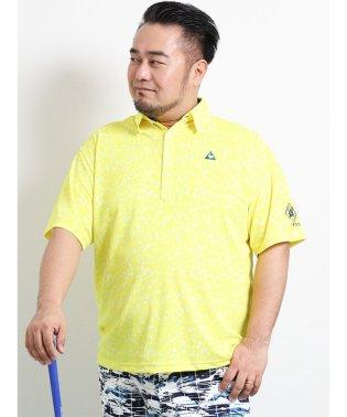 【大きいサイズ】ルコックスポルティフ ゴルフ/le coq sportif GOLF レパード総柄プリント半袖ポロ