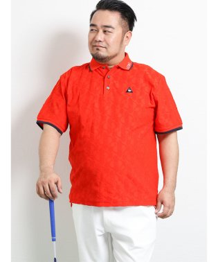 【大きいサイズ】ルコックスポルティフ ゴルフ/le coq sportif GOLF vespaカットジャガードパイル半袖ポロ