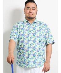 【大きいサイズ】パラディソ/Paradiso 総柄プリント半袖ポロ