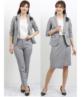 ストレッチオックス スタンドカラー7分袖ジャケット+スカート+パンツ