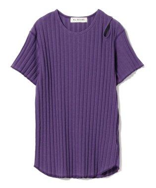 Ray BEAMS / アシンメトリー ショルダー オープン Tシャツ