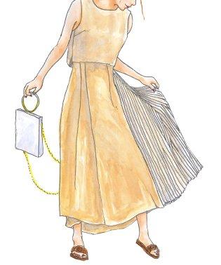 nanoco/サイドプリーツラップスカート