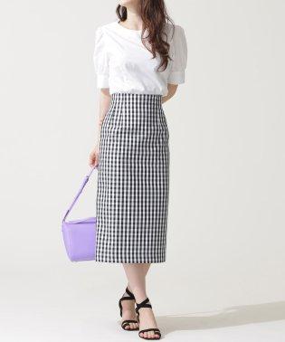 nanoco/ギンガムチェックタイトスカート