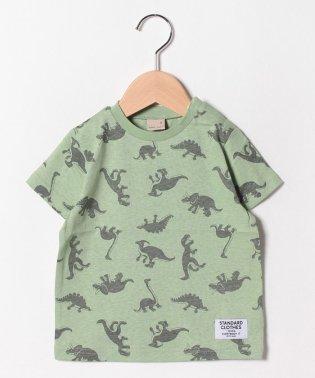 恐竜総柄Tシャツ