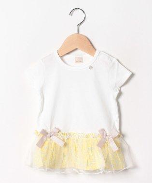 花柄ペプラムTシャツ