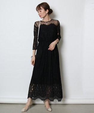 troisiemechaco(トロワズィエムチャコ) ドットチュールロングドレス