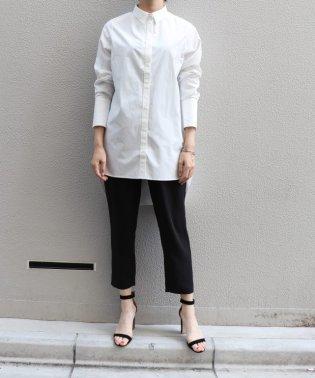 プレーンカラーシャツ(ロング着丈)