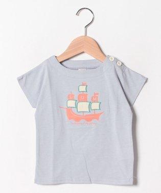 【接触冷感】船プリントボートネックTee