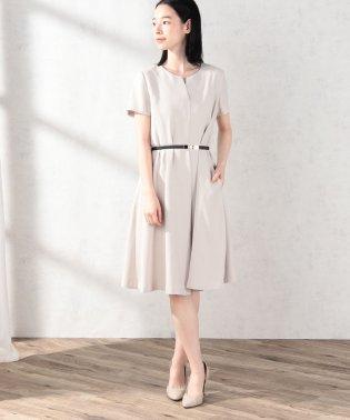 スキッパーフレア半袖ドレス