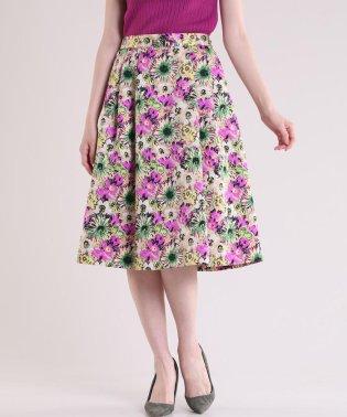 グログランフラワースカート