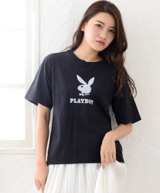 PLAYBOYプリント半袖Tシャツ