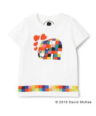 【ぞうのエルマー】エルマーとハートプリントTシャツ(90~130cm)