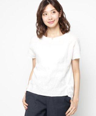 【洗える】エンブロイダリーフラワーシャツ