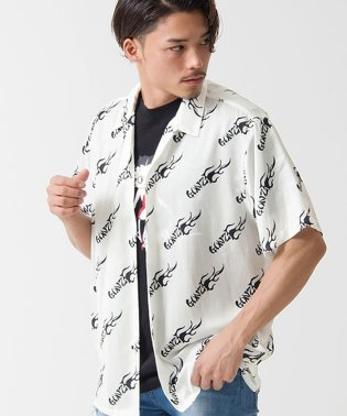 MARK GONZALES【マークゴンザレス】OPEN COLLAR SHORT SLEEVE SHIRT