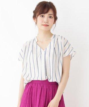 【WEB限定サイズあり】リネン調スキッパーシャツ