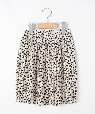 ◆【100cm~140cm/ママおそろい】プリントプリーツスカート