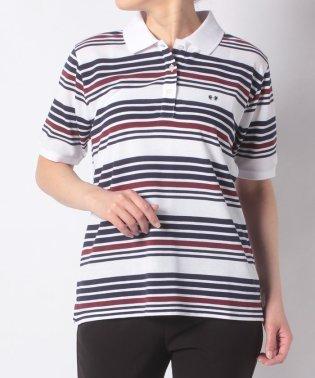 【一部店舗限定】McGアイビーボーダー半袖ポロシャツ