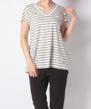 【一部店舗限定】Vネックマリンボーダー半袖Tシャツ