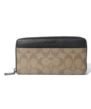 COACH OUTLET F58112 QBTN2 ラウンドファスナー長財布
