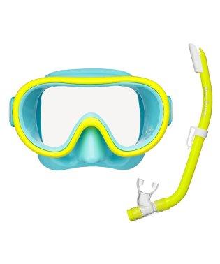 タバタ/キッズ/シリコーンマウスピース採用の子供用カラフルマスク&スノーケルセット